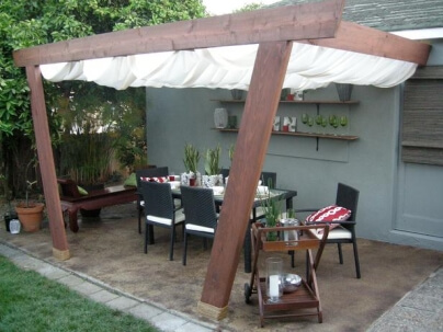 Outdoor cover for patio