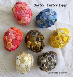 Colorful Buttoned Easter Eggs