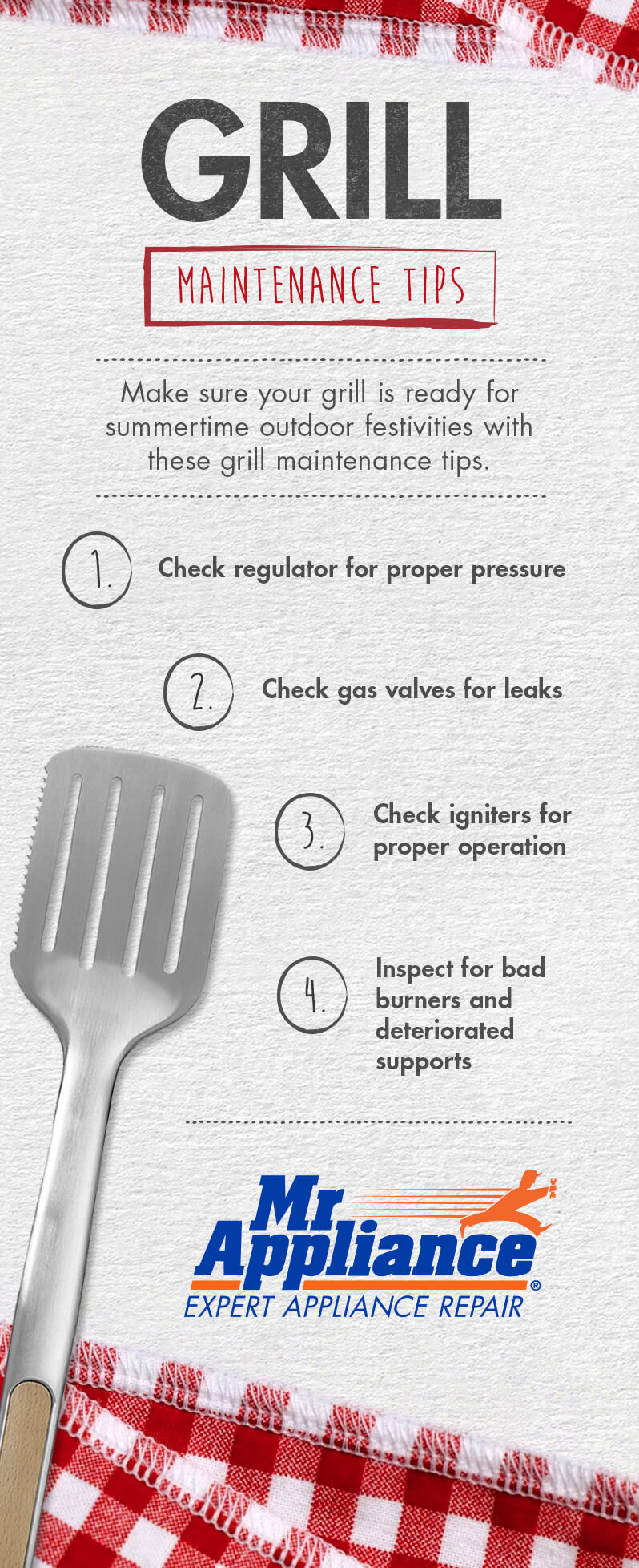 Grill maintenance tips from Mr. Appliance