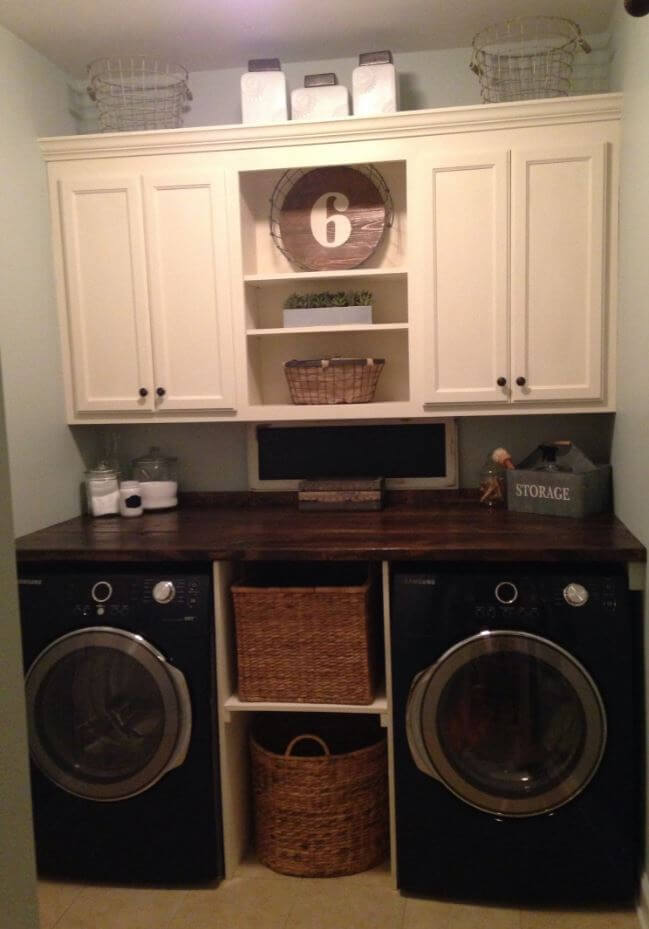 organize laundry room on a budget, products to organize laundry room